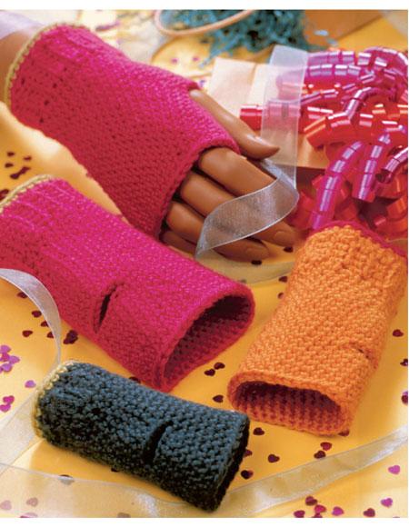 Crocheted Fingerless Gloves Pattern Knitting Patterns And Crochet