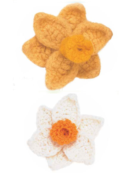 Daffodil Narcissuc Crocheted Flower Pattern Knitting Patterns