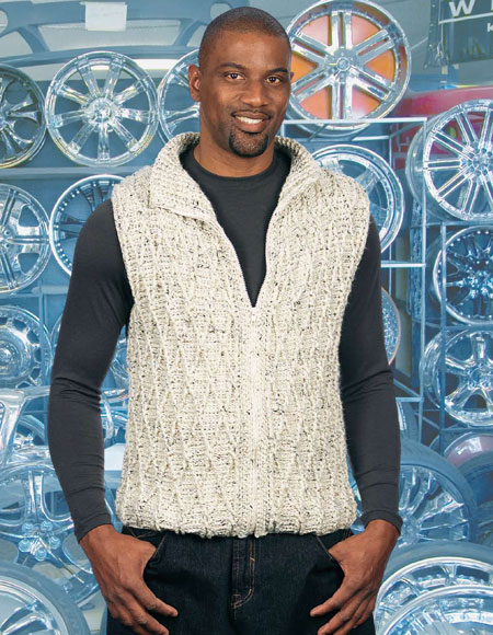 Zip It Cabled Crocheted Vest Pattern Knitting Patterns And Crochet