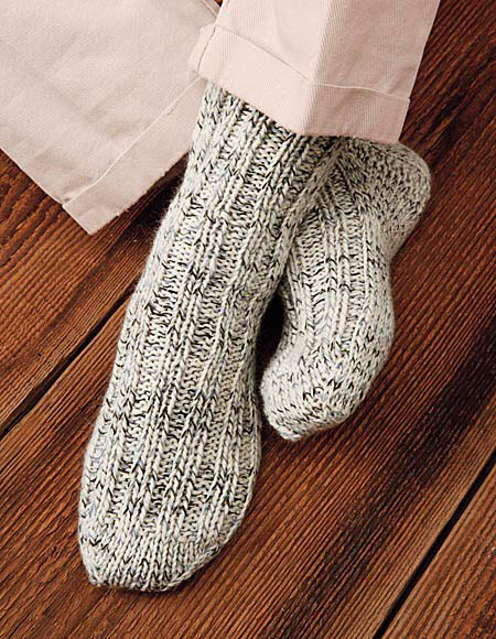 Woodsmans Thick Socks Pattern - Knitting Patterns and Crochet Patterns f...