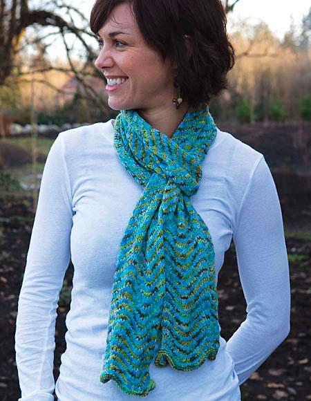 Chevron Scarf Pattern Knitting Patterns And Crochet