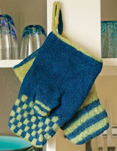 Knitting Pattern Oven Gloves : Felted Oven Mitts - Knitting Patterns and Crochet Patterns from KnitPicks.com...