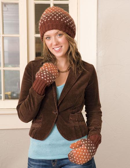 Toboggan Hat   Mitten Pattern - Knitting Patterns and Crochet ... 1d8cf54cba0