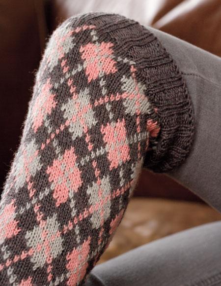 Knee High Socks Knitting Pattern : Ternion Knee-High Socks Pattern - Knitting Patterns and Crochet Patterns from...