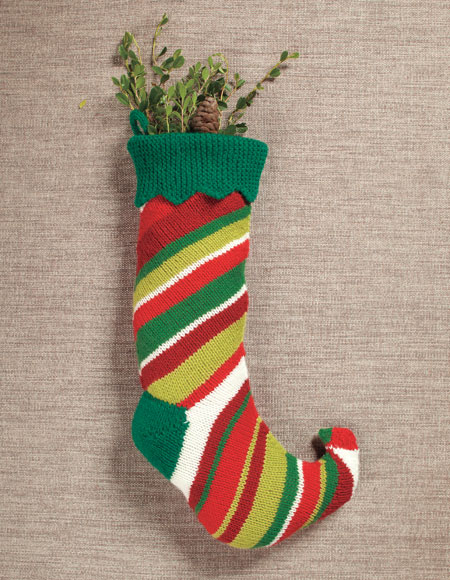 Elf Stocking Pattern Knitting Patterns And Crochet Patterns From