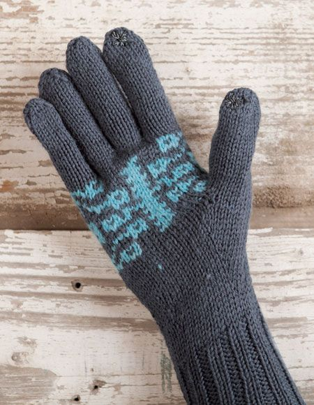 In Touch Gloves Pattern Knitting Patterns And Crochet Patterns