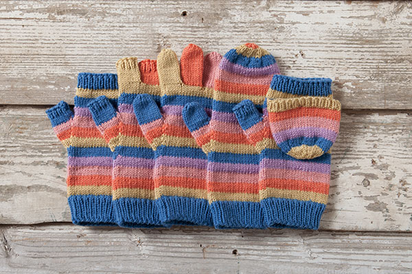 Line By Line Mittens Knitting Patterns And Crochet Patterns From