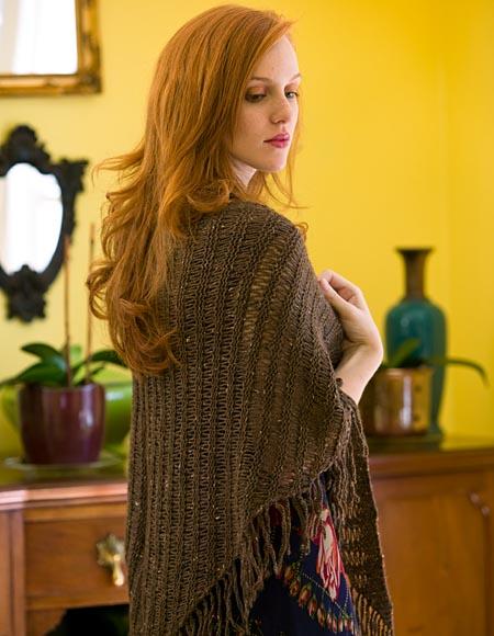 City Tweed Dropped Stitch Shawl Knitting Patterns And Crochet