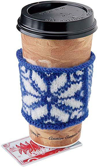 Come In From The Cold Coaster Cup Warmer Pattern Knitting