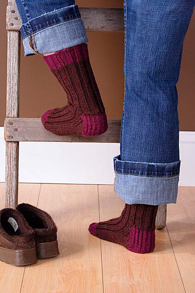 Boot Socks Knitting Pattern : Boot Socks Pattern - Knitting Patterns and Crochet Patterns from KnitPicks.com