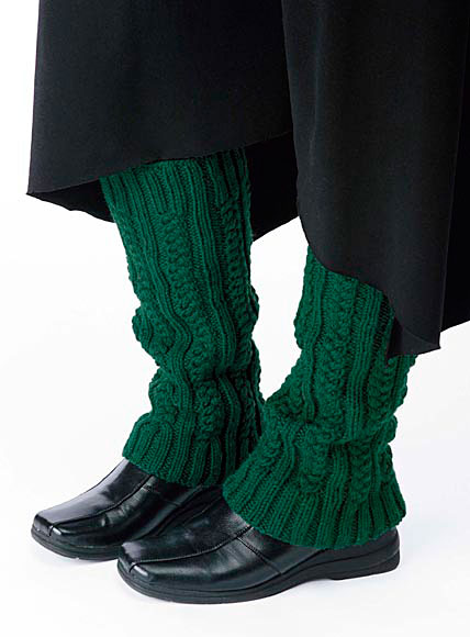 Cabled Legwarmers Pattern Knitting Patterns And Crochet Patterns