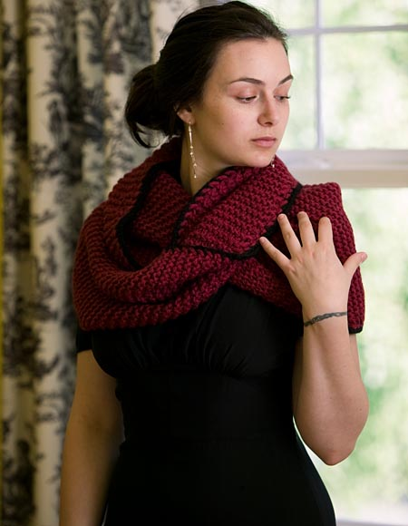 Knit Flower Pattern Free : Mobius Scarf/Shrug Pattern - Knitting Patterns and Crochet Patterns from Knit...