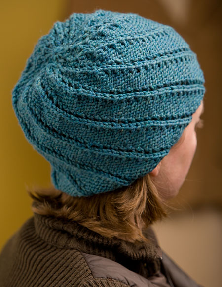Free Knitting Pattern Lace Beanie : Spiral Rib Cap Pattern - Knitting Patterns and Crochet ...
