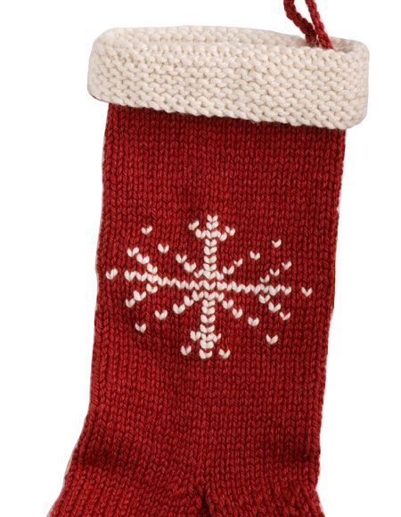 Knit Christmas Stocking Pattern Free : Holiday Stocking - Knitting Patterns and Crochet Patterns from KnitPicks.com