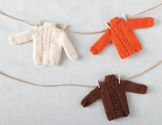 Tiny Holiday Sweater Ornament Pattern Knitting Patterns And