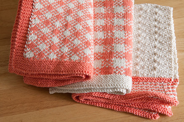 Gingham Towel Set Knitting Patterns And Crochet Patterns From
