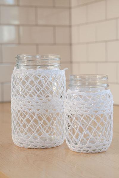 Crocheted Ball Jar Cozies Knitting Patterns And Crochet