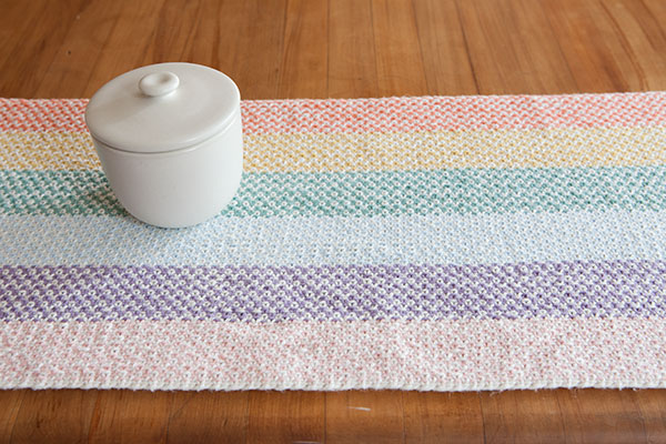Linen Dream Rug And Table Runner Knitting Patterns And