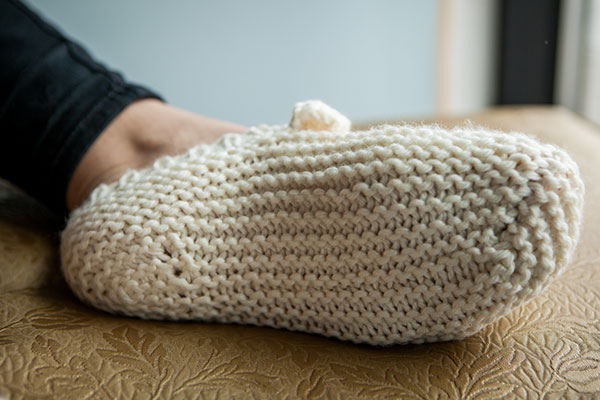 Knitting Pattern For Long Slippers : Meow-ccasin Slippers - Knitting Patterns and Crochet ...