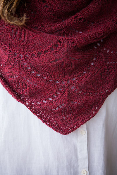 Fuchsia Crescent Shawl Knitting Patterns And Crochet Patterns From