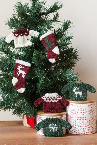 Sweater And Stocking Ornaments Knitting Patterns And Crochet