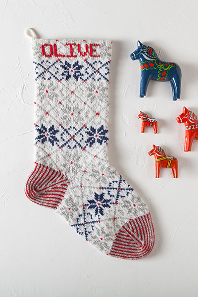 Nordic Stocking Knitting Patterns And Crochet Patterns From