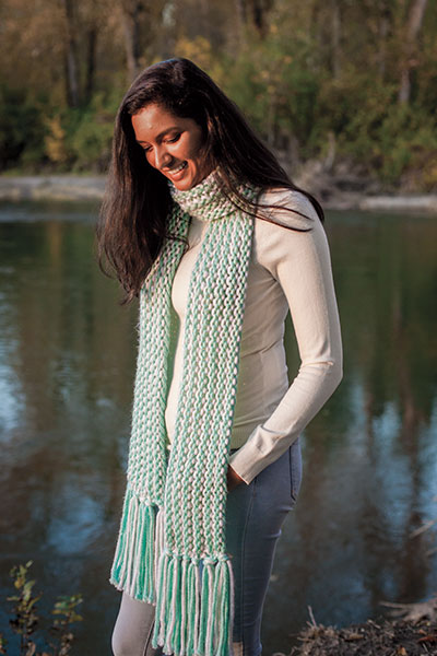 Glacial Slide Scarf Knitting Patterns And Crochet Patterns From