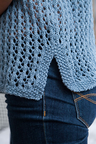 Simple Lace Tee Knitting Patterns And Crochet Patterns From