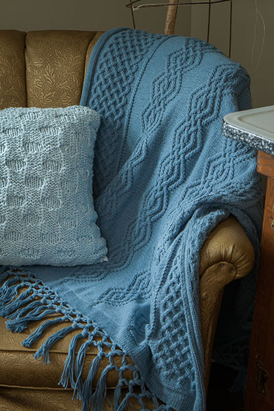 Larkshead Throw Knitting Patterns And Crochet Patterns From