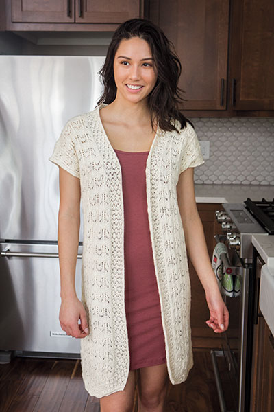 Lotus Lace Cardigan Knitting Patterns And Crochet Patterns From