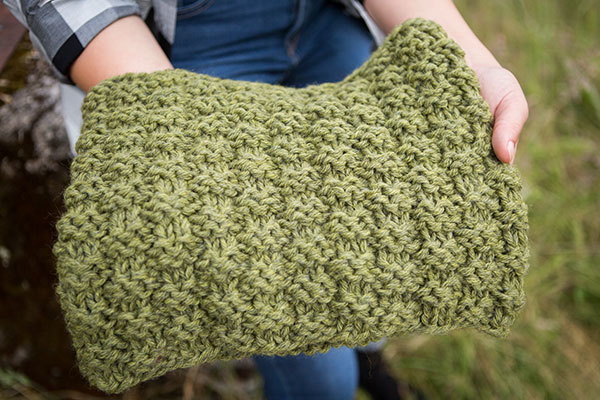 Basketweave Snood Knitting Patterns And Crochet Patterns From