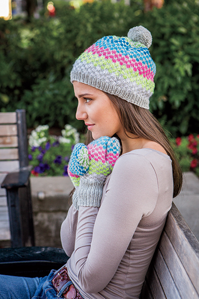 4c4732d7927 Simplicity Squared Hat   Mitts - Knitting Patterns and Crochet Patterns  from KnitPicks.com by Knit Picks Design Team On Sale