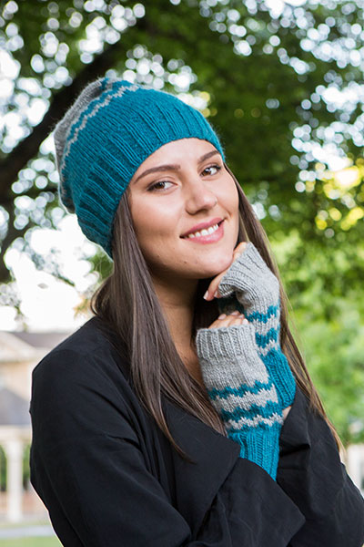 5004a78d496 Chevron Hat and Mitts - Knitting Patterns and Crochet Patterns from ...