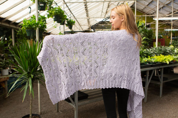 Eden Lace Shawl Knitting Patterns And Crochet Patterns From