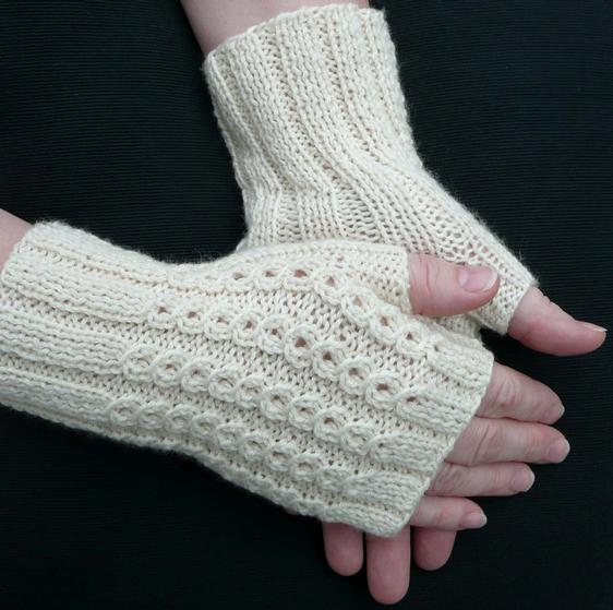 Knitting Pattern Fingerless Gloves Mittens : BonBons Fingerless Mitts - Knitting Patterns and Crochet ...