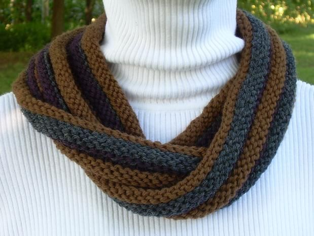About Face Double Twist Scarf Knitting Patterns And