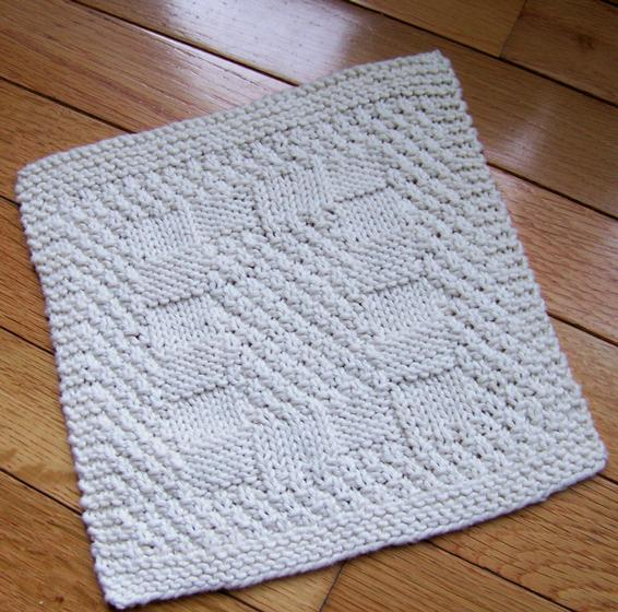 A Really Reversible Dishcloth - Knitting Patterns and Crochet Patterns from K...