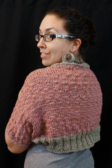 Easy Shrug Knitting Pattern Free : Simply striped shrug pattern knitting patterns and