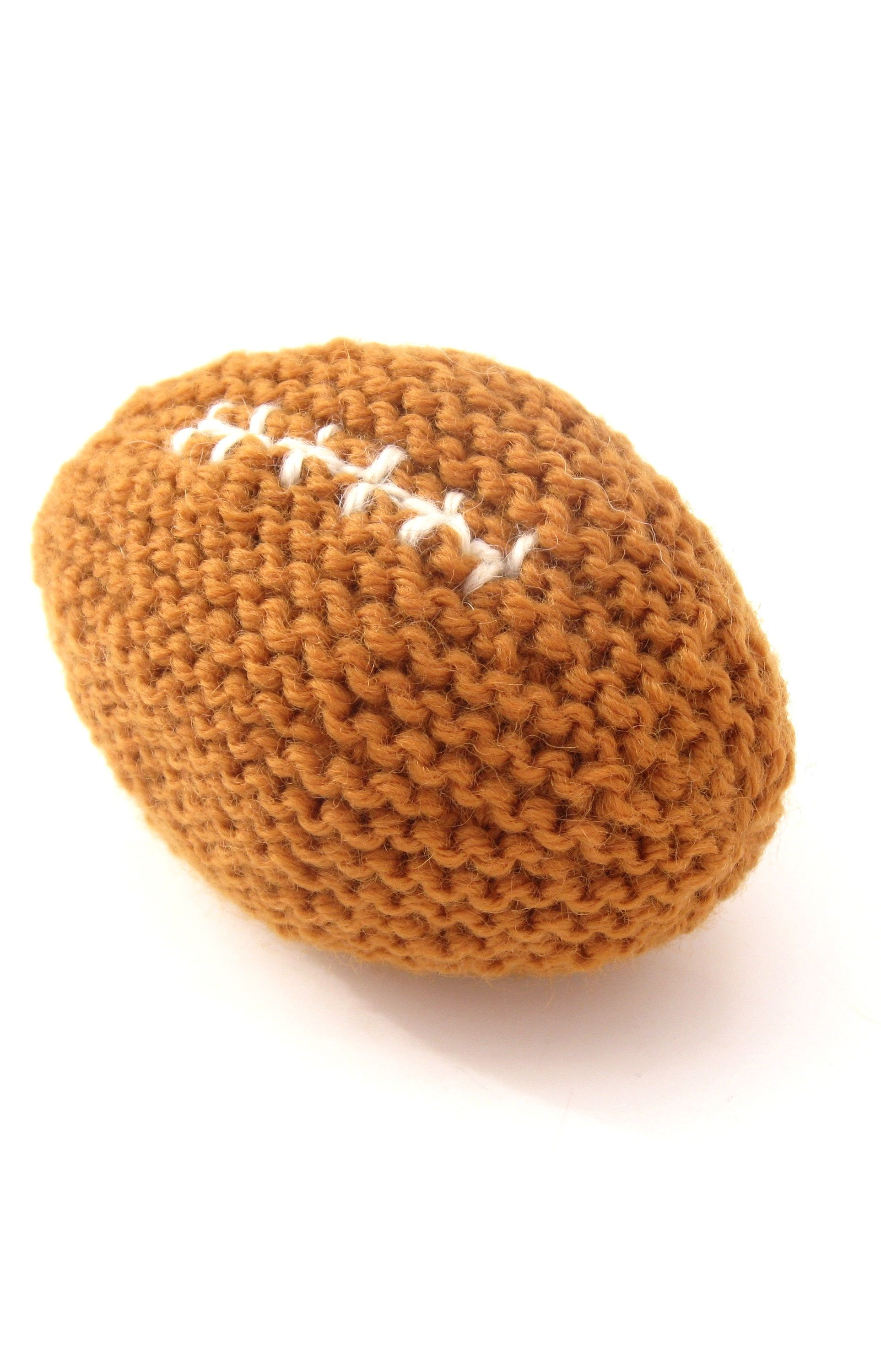 Baby S First Football Pattern Knitting Patterns And