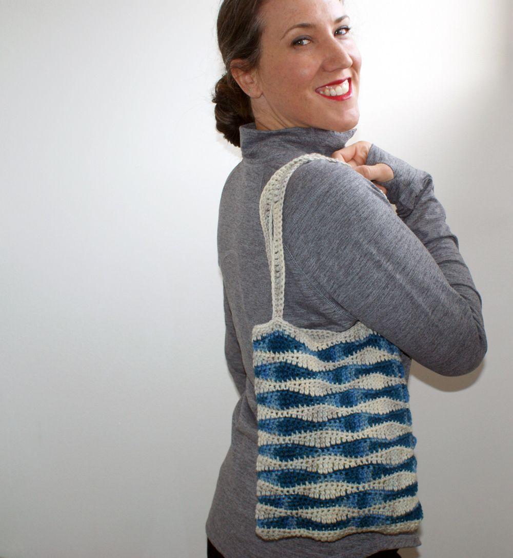 Ocean Waves Crochet Bag Pattern - Knitting Patterns and Crochet ...