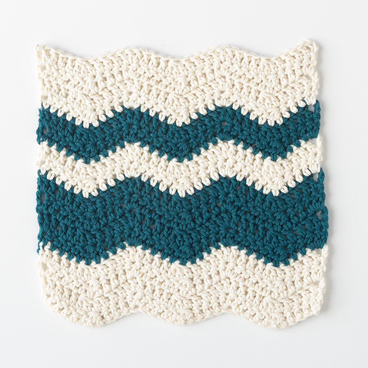 Wavy Chevron Crochet Dishcloth - Knitting Patterns and ...