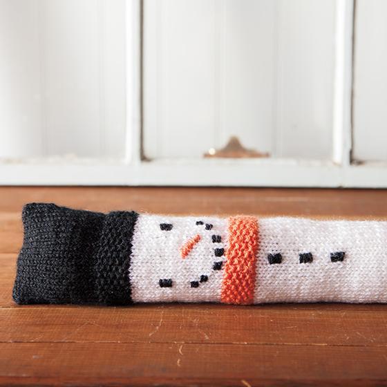 Snowman Draft Stopper Knitting Patterns And Crochet