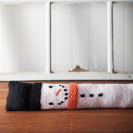 Snowman Draft Stopper Knitting Patterns And Crochet