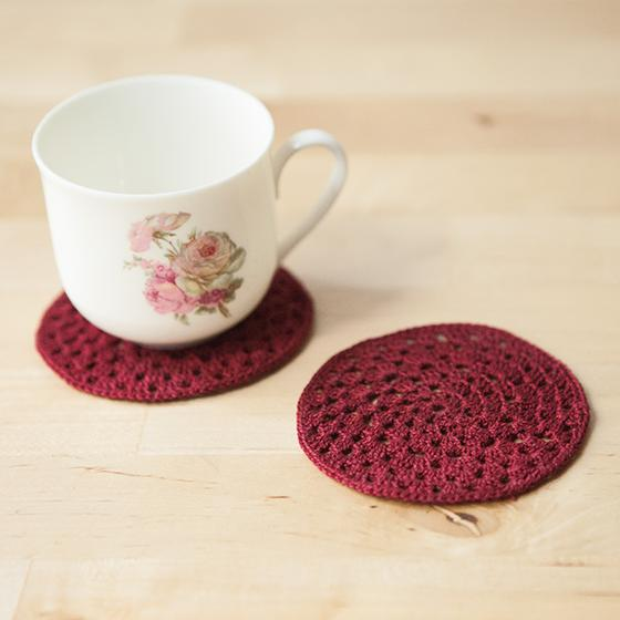 Granny Circle Crochet Coasters Knitting Patterns And Crochet
