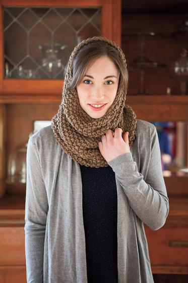 Seed Stitch Cowl And Hood Knitting Patterns And Crochet Patterns