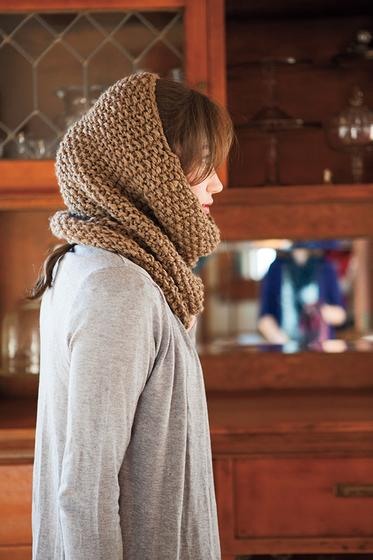 Seed Stitch Cowl and Hood - Knitting Patterns and Crochet Patterns ...