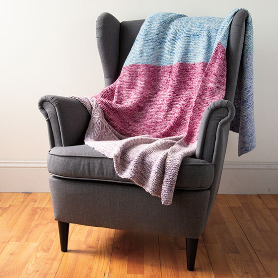 Knit Beginner Blanket - Knitting Patterns and Crochet Patterns from KnitPicks...