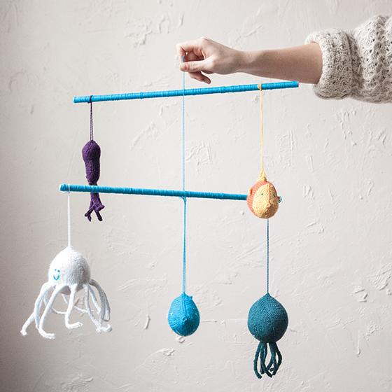Under The Sea Mobile Knitting Patterns And Crochet Patterns From