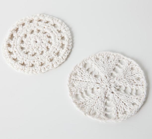 Knit Crochet Coaster Set Knitting Patterns And Crochet Patterns