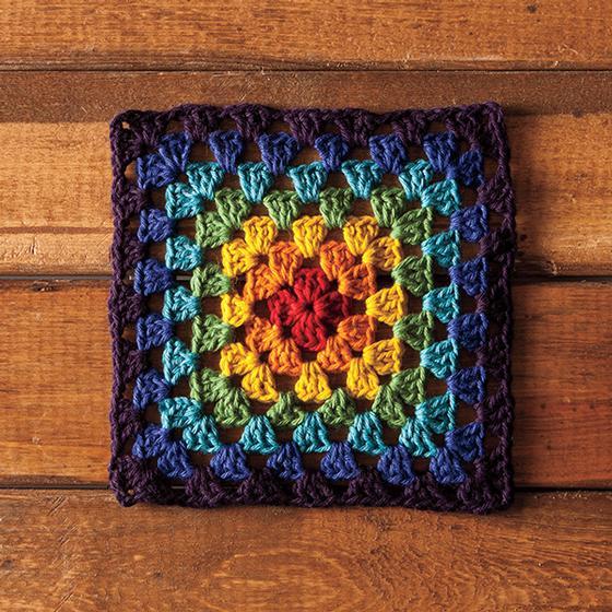 Grannys Rainbow Dishcloth Knitting Patterns And Crochet Patterns